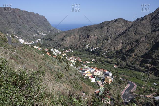 View to the valley of Hermigua, La Gomera, Spain