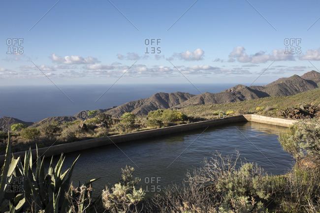 Rainwater reservoir on La Gomera, Spain