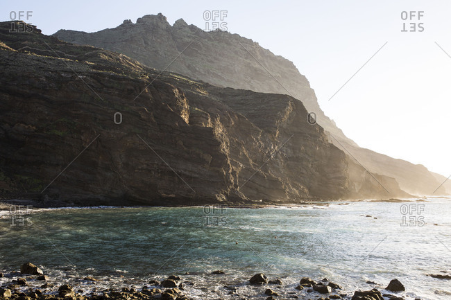 View on the rocks of Playa de Alojera, La Gomera
