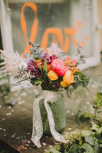 Alternative wedding, bridal bouquet