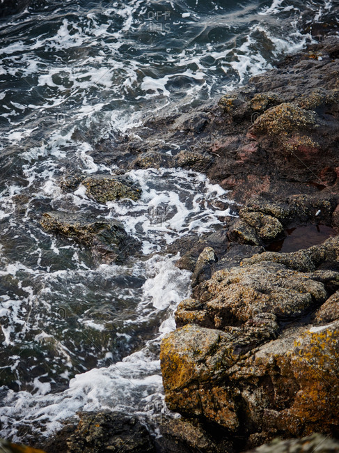 Churning waters off shore in Scotland
