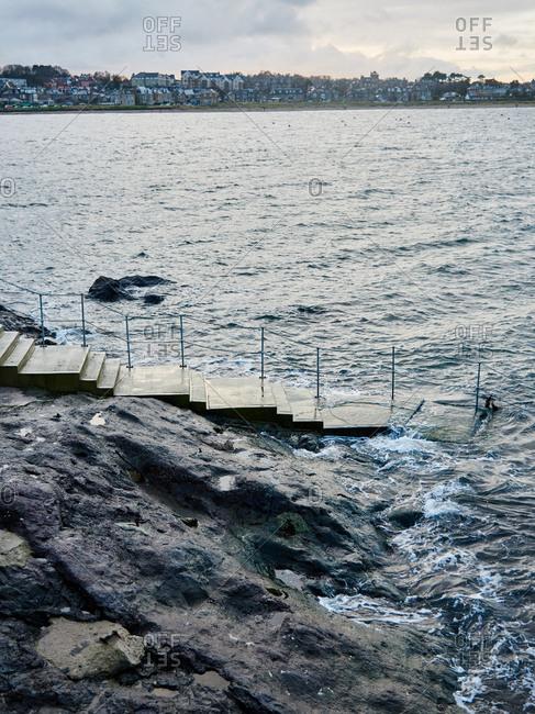 A ramp into sea in Scotland