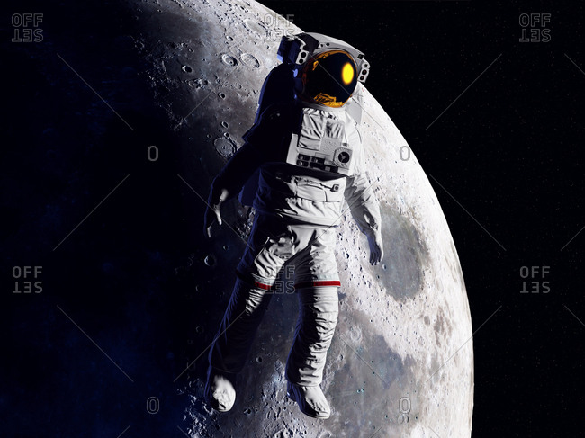 Astronaut in space, illustration