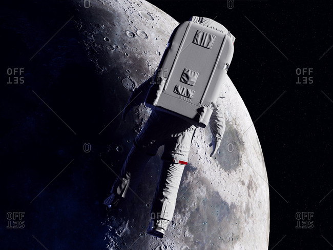 Astronaut in space, illustration