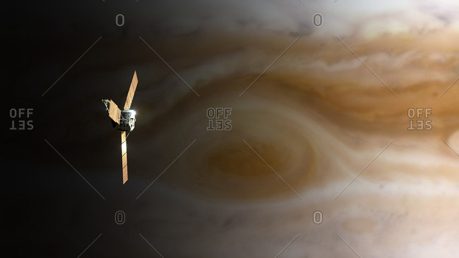 Juno Spacecraft above Great Red Spot