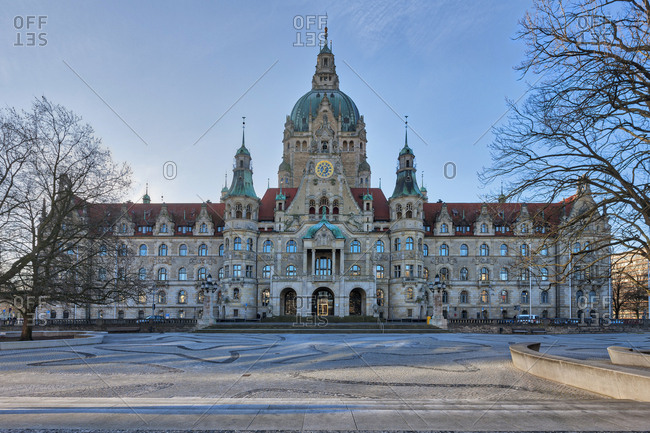 Facade of New town hall in Hanover