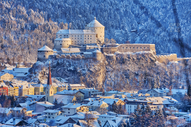 Kufstein town with fortress