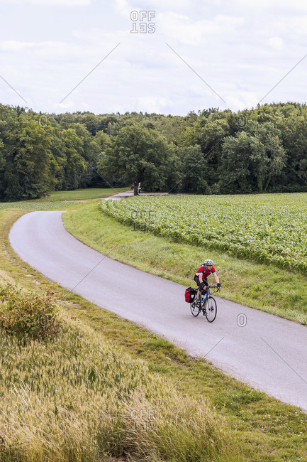 Man on solo bicycle road trip