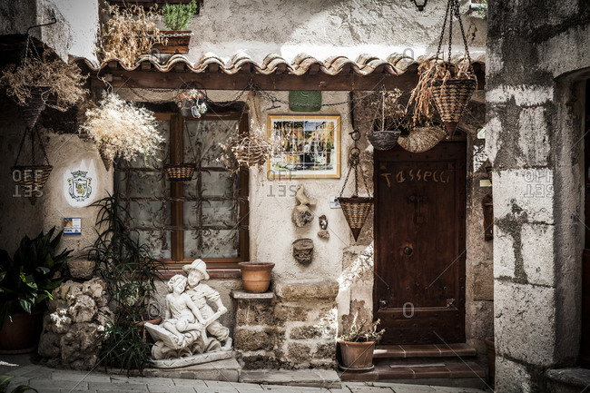 Villecroze, France - April 29, 2012: A rustic house in Provence