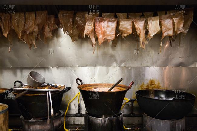 Kitchen scene in Chicago Restaurant