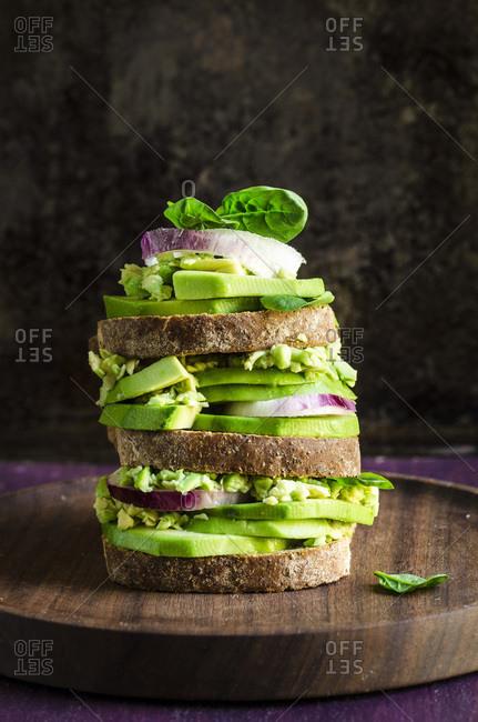 Avocado Toast stacked sandwich
