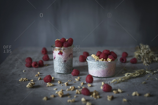 Chia pudding with fruits