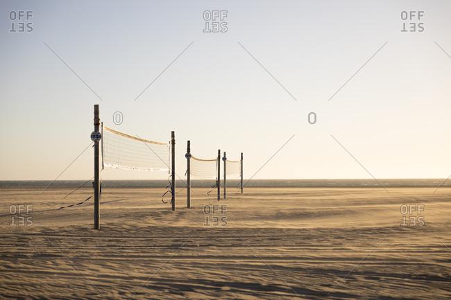 Volleyball nets on Venice Beach