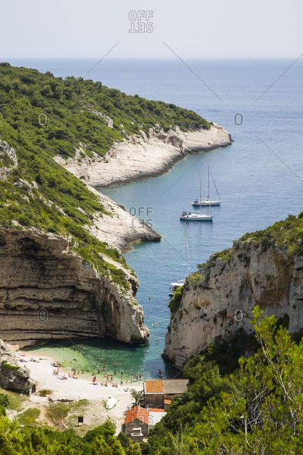 Vis island off the coast of Croatia