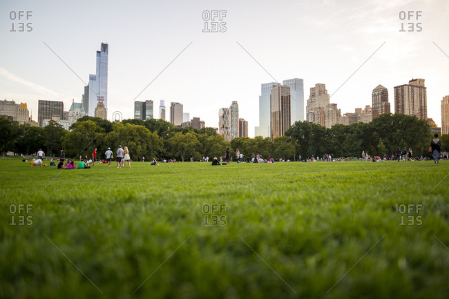 New York City, New York, USA - September 5, 2015: A summer evening in Central Park in New York City