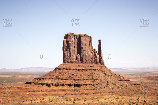 Mittens mesa mountain formation in Monument Valley, Arizona