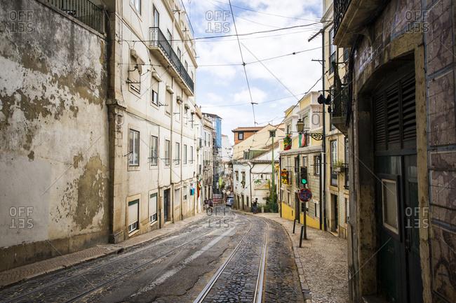 Lisbon, Portugal - June 23, 2015: City scenes from Alfama district, Lisbon, Portugal