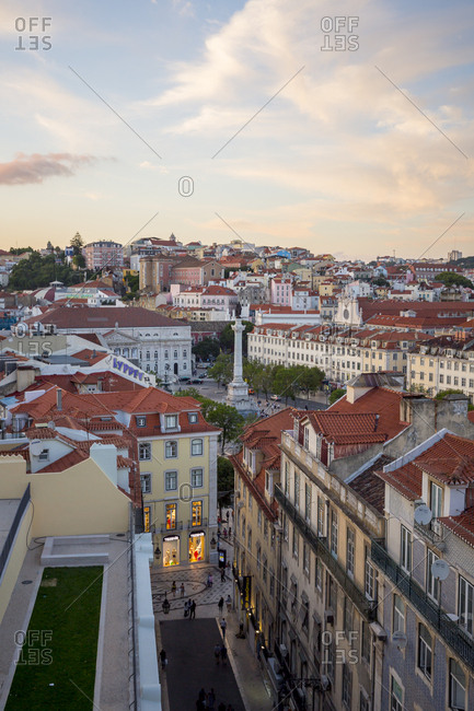 Lisbon, Portugal - June 23, 2015: Looking out over the rooftops in Lisbon, Portugal