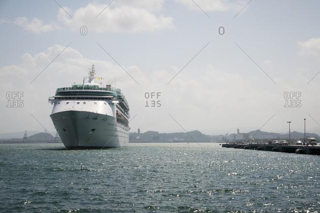 Cruise ship in port in San Juan, Puerto Rico