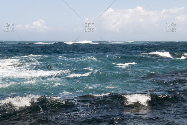 Waves off the coast of San Juan, Puerto Rico