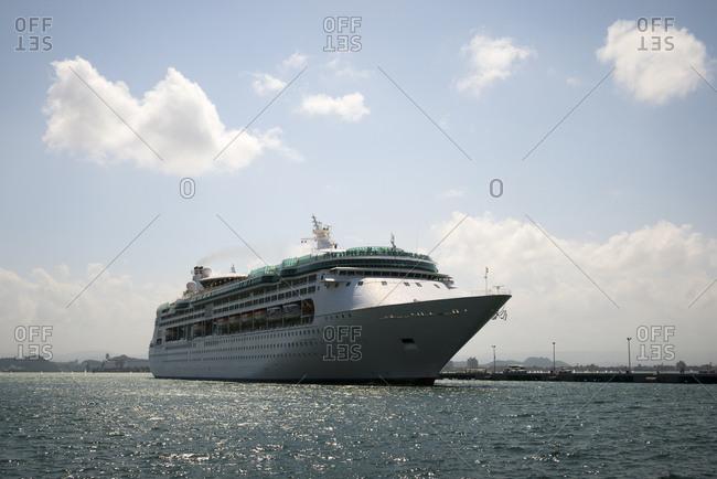 Cruise ship arriving in San Juan, Puerto Rico