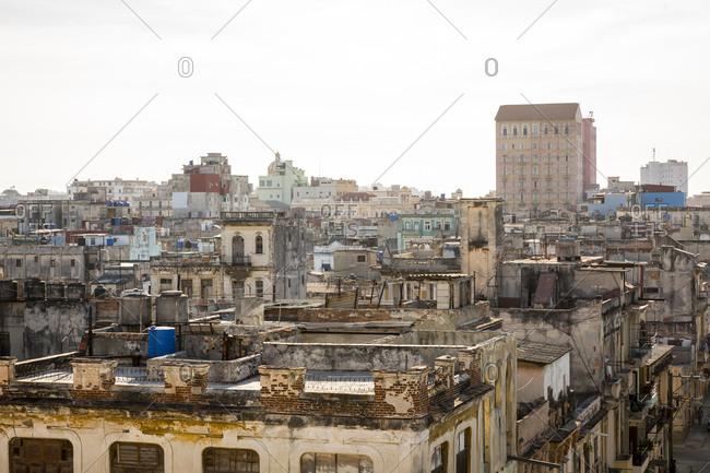 View over rooftops - Havana, Cuba