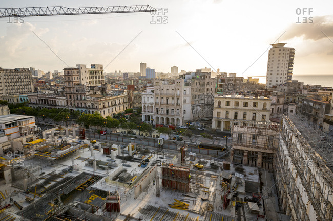 Havana, Cuba - May 2, 2016: A view over the city