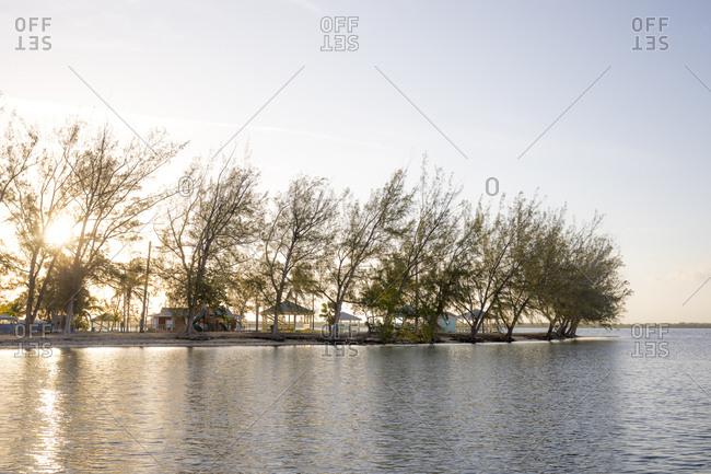 Sunrise at a boat dock in Grand Cayman