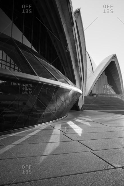 Sydney, Australia - May 15, 2017: Reflections of light at the Opera House