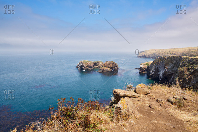 Overlook from Santa Cruz Island at Channel Islands National Park