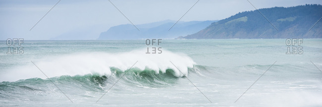 Scenic view of waves in sea