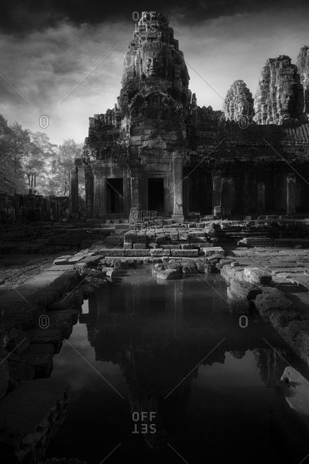 Prasat Bayon at sunset, Angkor Thom, Cambodia