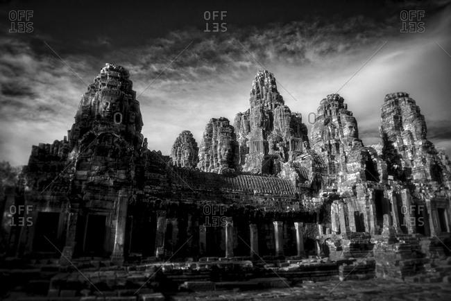 View of Prasat Bayon in Angkor Thom, Cambodia
