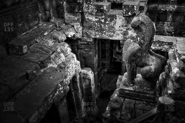 Hallway in Prasat Bayon, Angkor Thom, Cambodia