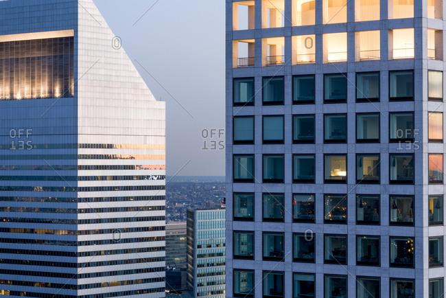 Large glass office windows