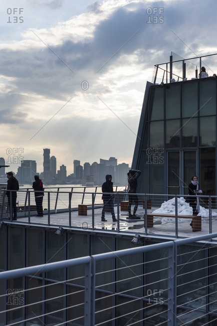 New York, New York - February 15, 2017: Balcony of the Whitney Museum of Art in New York City