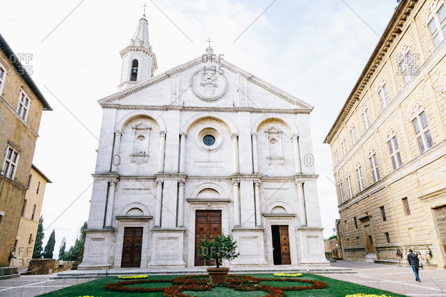 Siena, Italy - May 13, 2013: Dome of Penza in Val d'Arcy
