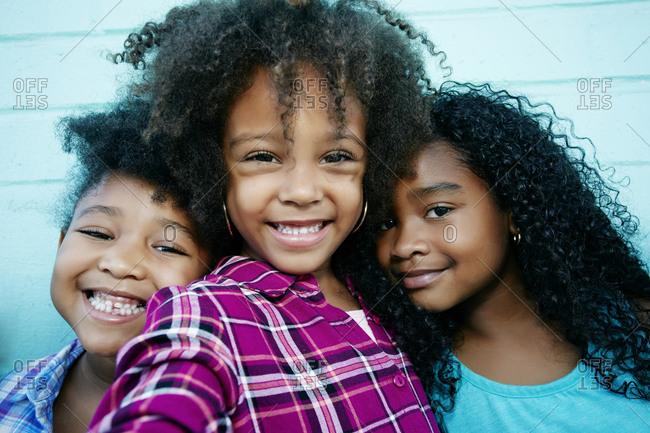 Portrait of smiling girls