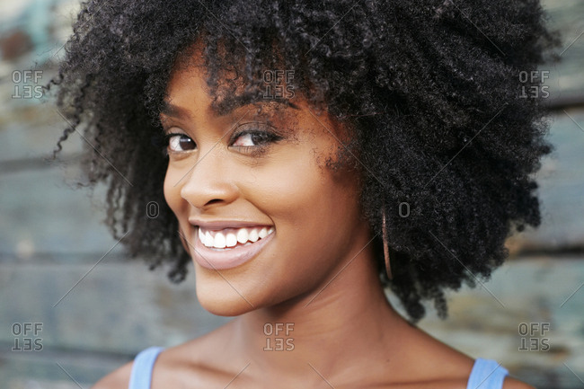 Close up of smiling Black woman