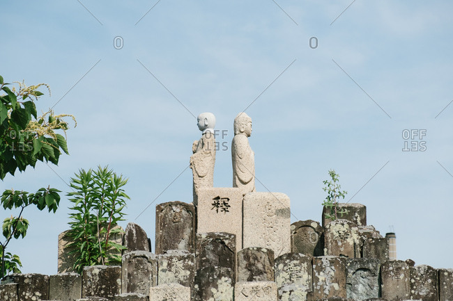 Ancient Buddhist statues in Japan