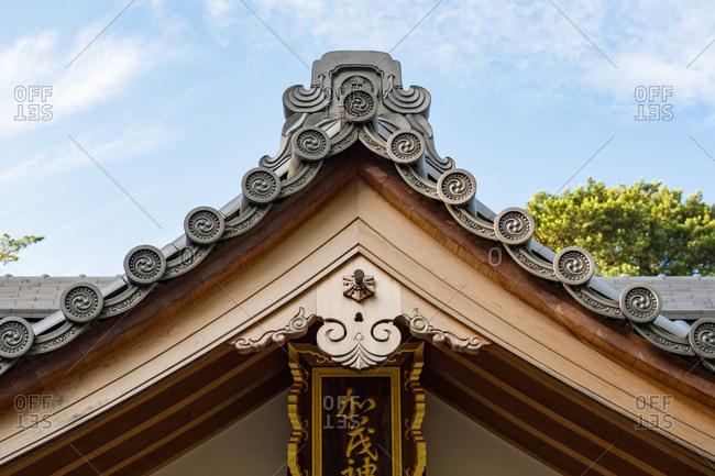 Peak of a roof in Japan