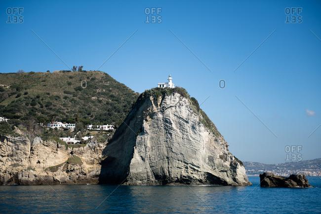 Lighthouse on Italian cliff