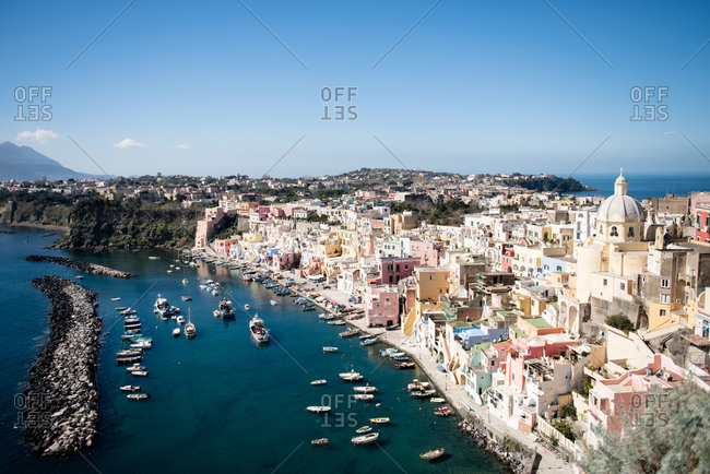 View over Procida, Italy
