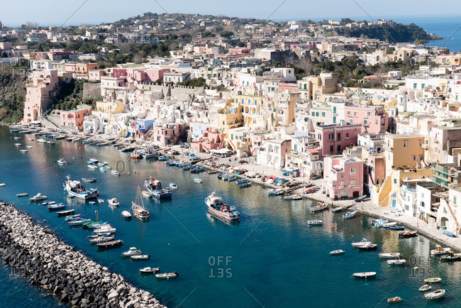 Harbor of Procida, Italy