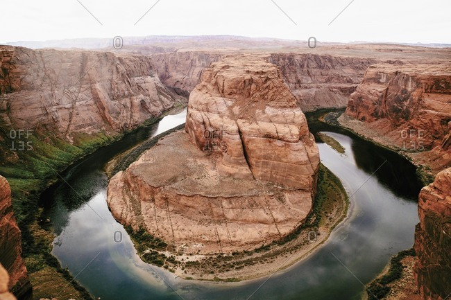 Amazing view of Colorado River at Horseshoe Bend