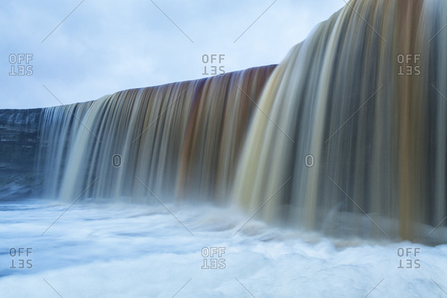 The Jagala Waterfall is a waterfall in Northern Estonia on Jagala River. It is the biggest natural waterfall in Estonia with height about 8 meters