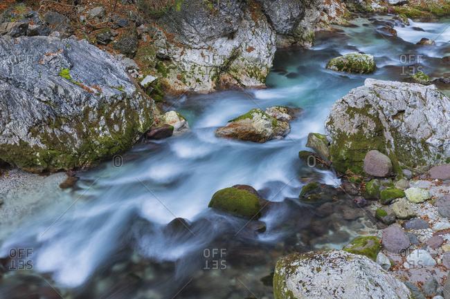 Slizza stream in the Julian Alps, Udine district, Friuli Venezia Giulia, Friuli, Italy, Europe