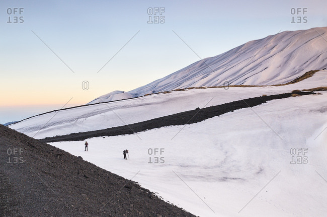 Photographers at Mount Etna, Sicily, Catania, Italy
