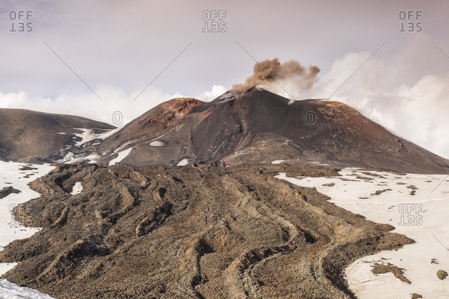 Eruption on Mount Etna, Sicily, Italy, Catania, Sicily, Italy