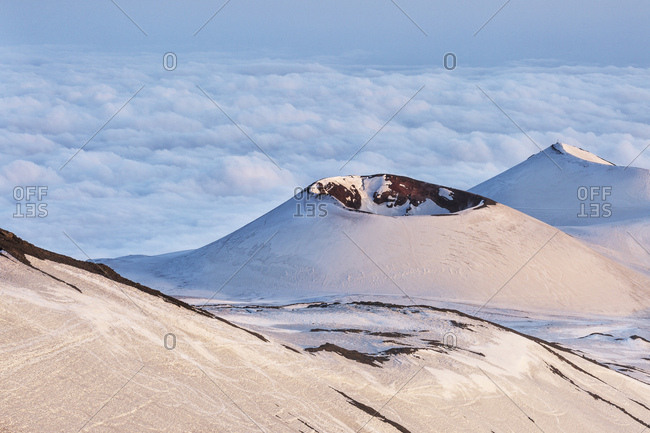 Crater in the Etna national park, Sicily, Italy, Catania, Sicily, Italy